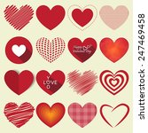 vector heart shapes sing and... | Shutterstock .eps vector #247469458