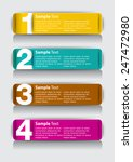 colorful modern text box... | Shutterstock .eps vector #247472980