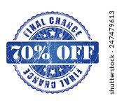 70   final chance stamp.  | Shutterstock .eps vector #247479613