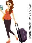 illustration of a teenage girl... | Shutterstock .eps vector #247479760