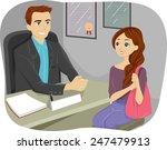illustration of a teenaged girl ... | Shutterstock .eps vector #247479913