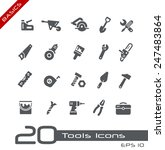 tools icons    basics | Shutterstock .eps vector #247483864