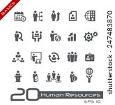 icons set of human resources... | Shutterstock .eps vector #247483870
