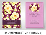 set of invitations with floral... | Shutterstock . vector #247485376