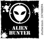 vector alien hunter logo on... | Shutterstock .eps vector #247488094