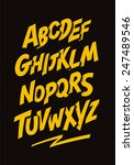 graffiti comics style font....   Shutterstock . vector #247489546