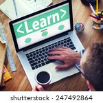 digital online learn technology ... | Shutterstock . vector #247492864