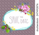 wedding invitation card with... | Shutterstock .eps vector #247492876