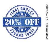20   final chance stamp.  | Shutterstock . vector #247493380