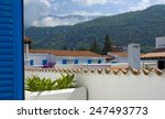 view with white buildings and... | Shutterstock . vector #247493773