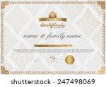 certificate design template.  | Shutterstock .eps vector #247498069