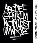 hand style graffiti font... | Shutterstock . vector #247498483
