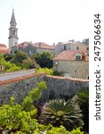 old budva view with church and...   Shutterstock . vector #247506634