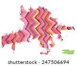 a handmade blot blob with... | Shutterstock .eps vector #247506694