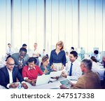 diverse business people working ... | Shutterstock . vector #247517338