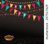 purim party bunting background... | Shutterstock .eps vector #247517629