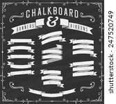 chalkboard banners  ribbons and ... | Shutterstock .eps vector #247520749