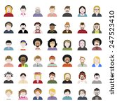 people diversity portrait... | Shutterstock .eps vector #247523410