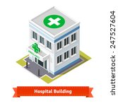 hospital and ambulance building.... | Shutterstock .eps vector #247527604