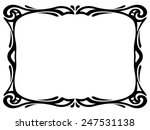 art nouveau black ornamental... | Shutterstock .eps vector #247531138
