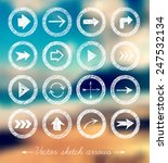 sketch arrow collection for... | Shutterstock .eps vector #247532134