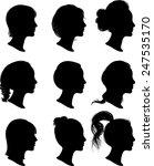 women profile silhouettes  ... | Shutterstock .eps vector #247535170