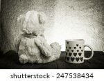 teddy bear is sitting on the... | Shutterstock . vector #247538434