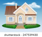 beautiful small residential... | Shutterstock .eps vector #247539430