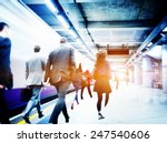 business people subway station... | Shutterstock . vector #247540606
