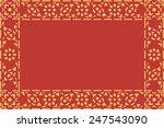 golden thai style pattern... | Shutterstock . vector #247543090