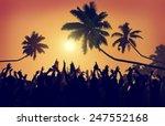 adolescence summer beach party... | Shutterstock . vector #247552168