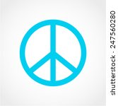 peace sign isolated on white... | Shutterstock .eps vector #247560280