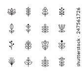 icons plant | Shutterstock .eps vector #247561726