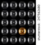set of light bulb illuminated... | Shutterstock . vector #247562680