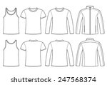 singlet  t shirt  long sleeved... | Shutterstock .eps vector #247568374