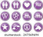 gay pride purple icon set | Shutterstock .eps vector #247569694