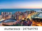 panorama of malaga cityscape ... | Shutterstock . vector #247569793