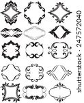set of decorative  elements for ... | Shutterstock .eps vector #247572040