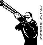 man aiming  shotgun at you | Shutterstock .eps vector #24757210