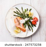 Grilled Salmon With Asparagus...