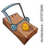 mouse trap with cheese  vector... | Shutterstock .eps vector #247573840