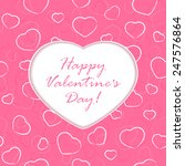 pink background with valentines ... | Shutterstock .eps vector #247576864