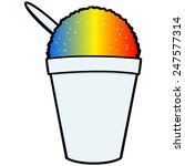 shaved ice icon