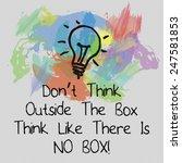 motivational quote background... | Shutterstock . vector #247581853