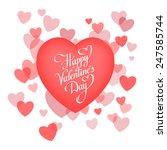 happy valentine's day lettering ... | Shutterstock .eps vector #247585744
