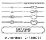 rope knots collection. overhand ...   Shutterstock .eps vector #247588789