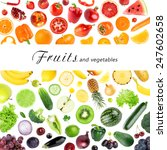 collection of fruits and... | Shutterstock . vector #247602658