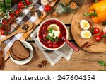 traditional russian and... | Shutterstock . vector #247604134