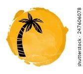 Vector Watercolor Orange Grung...