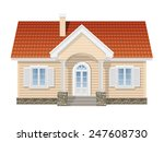 suburban house  realistic...   Shutterstock .eps vector #247608730